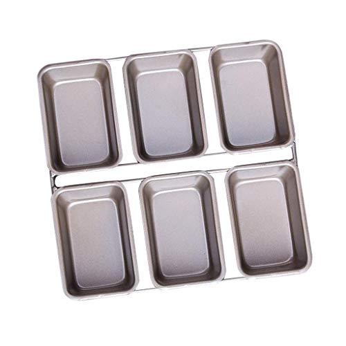 6 Hohlraum Perfekte Ergebnisse Premium Antihaft Mini Loaf Backform Tablett