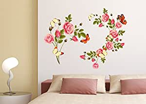 Decals Design Flowers Blossoms Beautiful Wall Sticker PVC Vinyl 50 Cm X 70