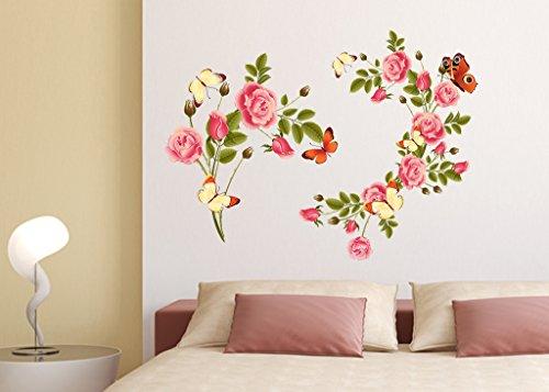 Decals Design 'Flowers Blossoms Beautiful' Wall Sticker (PVC Vinyl, 50 cm x 70 cm x 1 cm)