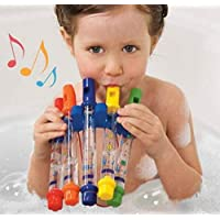 Funmazit Whistling Bathing Toys Preschool Educational Bath Water Flutes Toy Water Game for Kids Toddlers