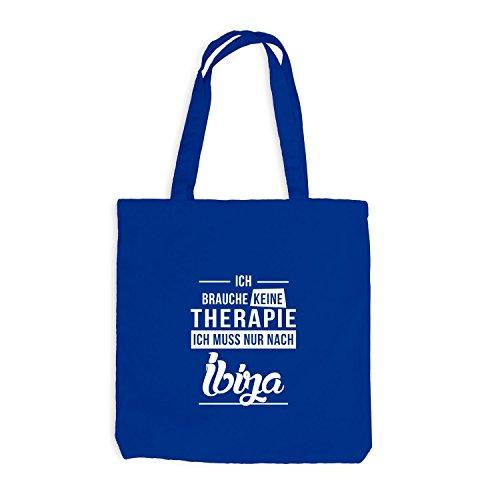 Jutebeutel - Ich Brauche Keine Therapie Ibiza - Therapy Urlaub Party Royalblau
