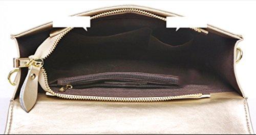Strawberryer Europe Et Les Etats-Unis Mode Dames Embrayage High-end Lock Bag Outdoor Banquet Décoré Sac à Bandoulière white