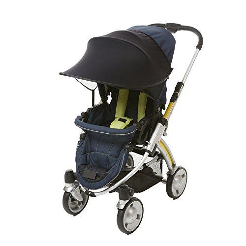 Sonnenschirm Sonnenverdeck für Kinderwagen Sportkinderwagen und Autositz, Universal Sonnenschutz Sonnensegel für Buggy, Anti-Wind und Anti- UV