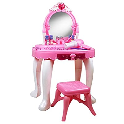 Oypla Childrens Kids Girls Play Toy Dressing Table Glamour Mirror produced by Oypla - quick delivery from UK.