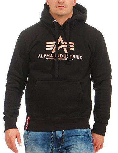 Alpha Industries Kapuzenpullover Basic Hoody black gold (XXL) -