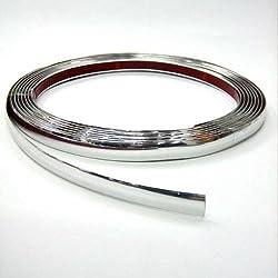 Autohobby 15mm x 5meter Zierleiste Chromleiste Universal Flexibel Selbstklebend Kunststoff Tuning Styling Chrom