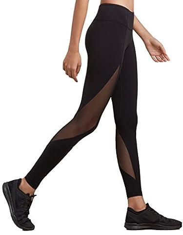 dh Garment Frauen Fitnessstudio Leggings hohe Taille Sport Strumpfhose mit Bundtasche – Bauchkontrolle (Größe 32)