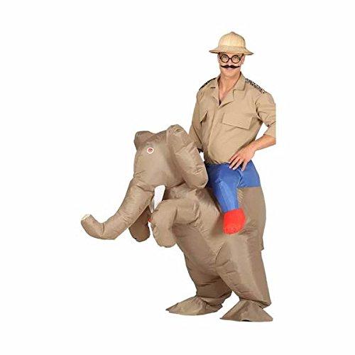 Erwachsene Für Kostüm Aufblasbare Elefanten - aufblasbares Elefanten Aufsitz Kostüm Tierkostüm für Erwachsene, Größe:L