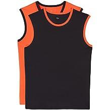 FIND Camiseta sin Mangas Combinada para Hombre, Pack de 2