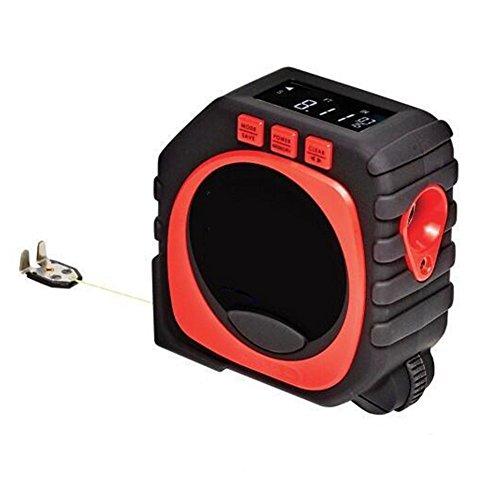 Mehrzweck-Maßband Schwarz 3 in 1 Maßbandmaß Laser-Digital-Maßband-Werkzeug (Schwarz Rot) 1 Digital Laser