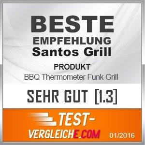 BBQ Thermometer Funk Grill mehrfacher Testsieger Heft Der Griller 1/2015 für BBQ, Ofen und Grills.