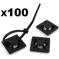 Cable Tie Mounts - 100 x Supporti autoadesivi porta cavi , fascette non incluse