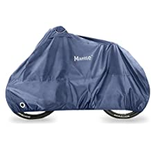 Waterproof Bike Cover for Outdoor Storage, Mantle™ Heavy duty Bicycle Rain Covers, 210D Oxford Fabric - Dust, Rust & UV Protection, Air Vent Pockets, Wind Buckle, Lock Holes, for 1 or 2 Bikes