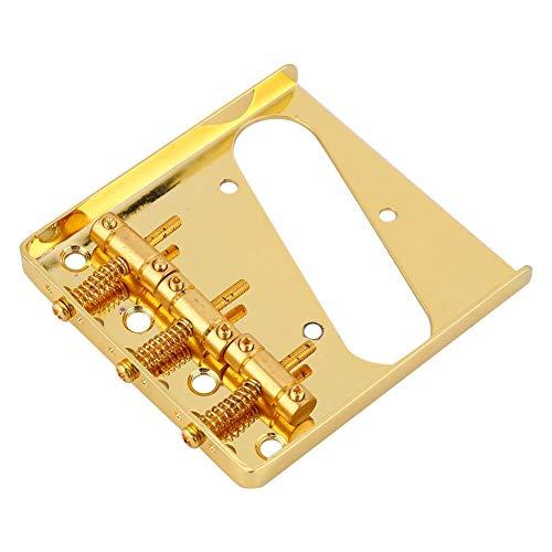 Fafeims Zinklegierung TL E-Gitarre Brücken Saitenhalter 3 Saiten Gitarre Sattel Brücke Platte Schwanz Sets(golden)