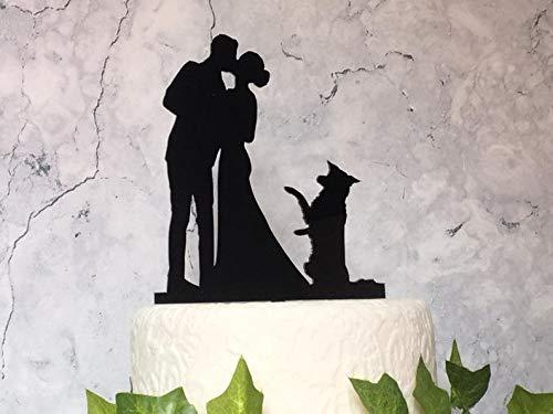 Decoración para tarta de boda de Border Collie, decoración de boda de...