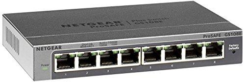 Price comparison product image NETGEAR 8-Port Gigabit Smart Managed Plus Switch,  ProSAFE Lifetime Protection (GS108Ev3)