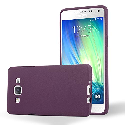 Cadorabo Hülle für Samsung Galaxy A5 2015 (5) - Hülle in Frost Bordeaux LILA – Handyhülle aus TPU Silikon im matten Frosted Design - Silikonhülle Schutzhülle Ultra Slim Soft Back Cover Case Bumper