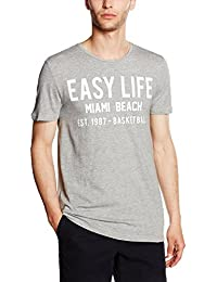 Tom Tailor Denim Summer Basketball Print Tee, T-Shirt Homme