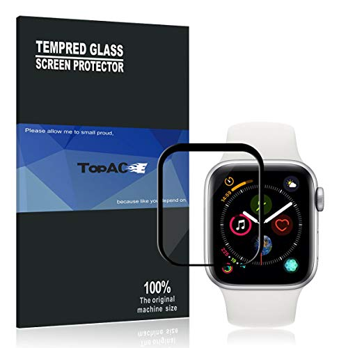 Protector Pantalla Apple Watch Series 4 44MM TopACE 9H Dureza Full Coverage Cristal Templado para Apple Watch Series 4 44MM