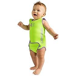 Cressi - Baby Warmer Combinaison de Bain et Natation pour Bébé en Neoprene - Vert - 18/24 mois