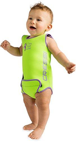 Cressi Kinder Neopren Baby Schwimmanzug Infant Baby Warmer, Grün, 6/12 Monate, XDG002206