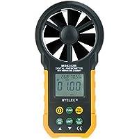 Zophor (TM)-Custodia multifunzione a prova di vento, velocità, tachimetro-Anemometro digitale/Volume di aria, termometro/igrometro MS6252B HYELEC