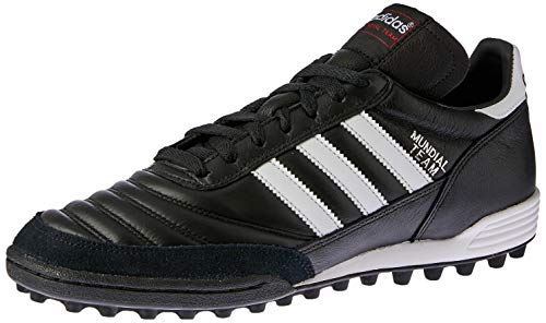 adidas Unisex-Erwachsene Mundial Team Fußballschuhe, Schwarz (Black/Running White Ftw/Red), 43 1/3 EU