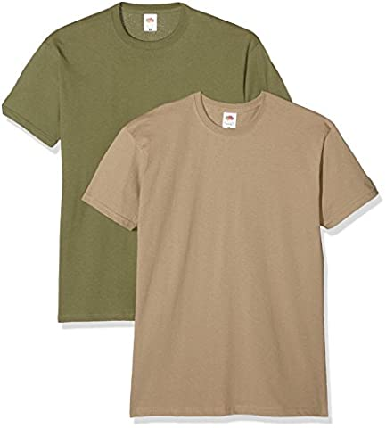 Fruit of the Loom Valueweight T, T-Shirt Homme, Multicolore (Khaki/Oliv),