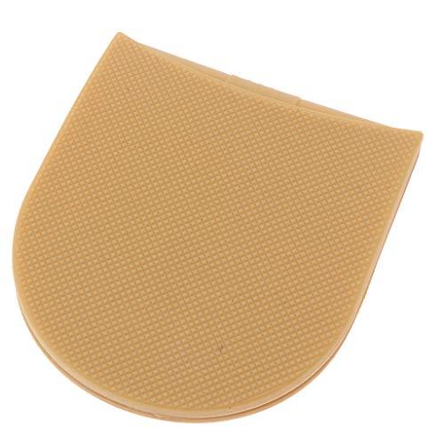 sharprepublic 1 Paio di Tacchi in Gomma Calzolaio Punte Antiscivolo Cuscinetto di Ricambio - Colore della pelle, come descritto