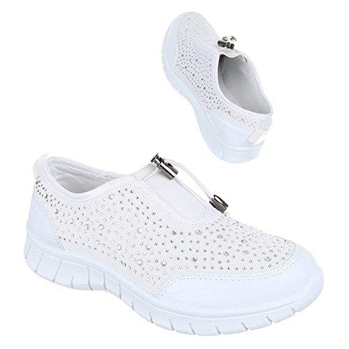 Ital-Design, Sneaker donna Bianco (bianco)