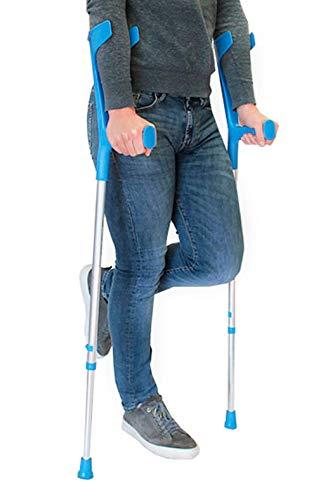 pepe-stampelle, stampelle ortopediche regolabili adulto, stampelle canadesi regolabili, stampelle ortopediche, stampella colore blu 2 unitàs