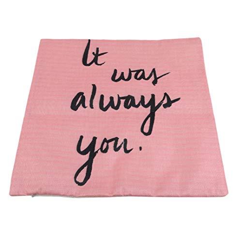 JOOFFF Brief Motto Kissenbezug Kissenbezug Einfache Kissenbezug Schlafzimmer Home Dekorative Accessoires Geschenk Für Freundin Frauen Dame, 4# -