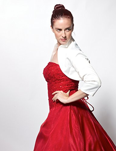 atopdress - Robe - Veste - Manches 3/4 - Femme Or Doré 38 Blanc - Blanc