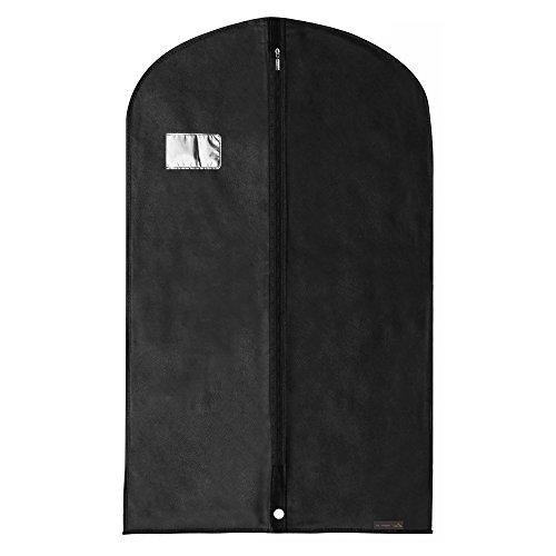 Hangerworld Lot synthétiques 101,6 cm Adapter respirant vêtement Housse de vêtement, Noir