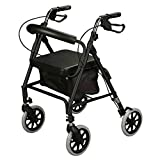 Ultra Lightweight rollator Mobility Walker 4 Wheeled Walking aid with Padded seat