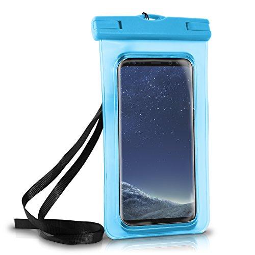 Samsung-handy Wasserdichte (Wasserdichte Hülle Full Cover in Blau OneFlow 360° Unterwasser-Gehäuse Touch Schutzhülle Water-Proof Handy-Hülle für Samsung Galaxy S9 S9-Plus S8 S8-Plus S7 S7-Edge S6 S5 S Case Handy-Schutz)