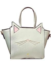 LILICAT Damen Handtasche Mode Rucksäcke Cat Ear Gedruckt Frauen Schultertasche Chic Messenger Bag Kunstleder Ladies Business Handbag Groß Kapazität