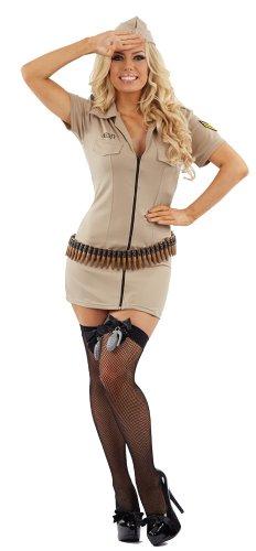 Kostüm Armee 1940 - 1940er Sexy Armee weiblich Kostüm-XL (UK 18-20)