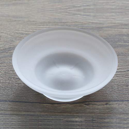 Lamdoo Seifenschale Runde Glas Aufbewahrungsbox Klar Halter Zubehör Für Dusche Badezimmer Hotel - Glas-seifenschale