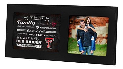 KH Sports Fan 100310047740,6x 20,3cm Texas Tech rot Raiders Familie Cheer Schwarz Single Foto Collage Rahmen