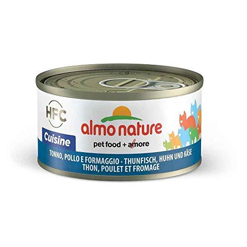 almo nature HFC Cuisine avec Poulet, Thon et Fromage 70 g 1 canette