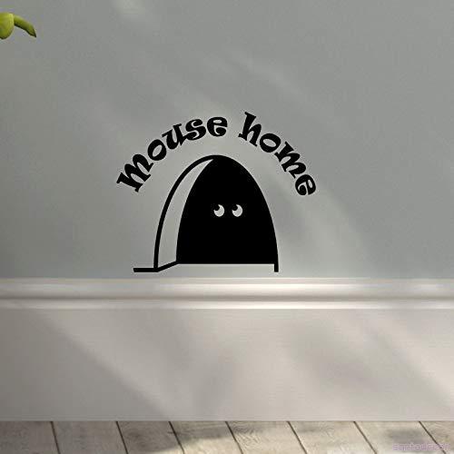 Nette 3d Maus Loch Voyeur Wohnkultur Abnehmbare Vinyl Wandaufkleber Wandtattoos Für Kinderzimmer Wohnzimmer Haus Dekoration Rosa 12x15 cm