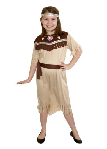 - Perkins Indian Squaw Mädchen Medium indischen Fancy Dress Kostüm für Kinder WILD West Cowboy ()