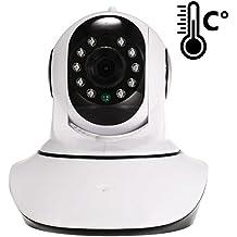 Cámara IP de Videovigilancia Zodikam 100 con sensor de humedad y temperatura integrado. HD, Visión nocturna, detector de movimiento, Plug & Play, P2P, Video nunny, video bebés, video para mascotas, Apps para Iphone/Ipad/Android