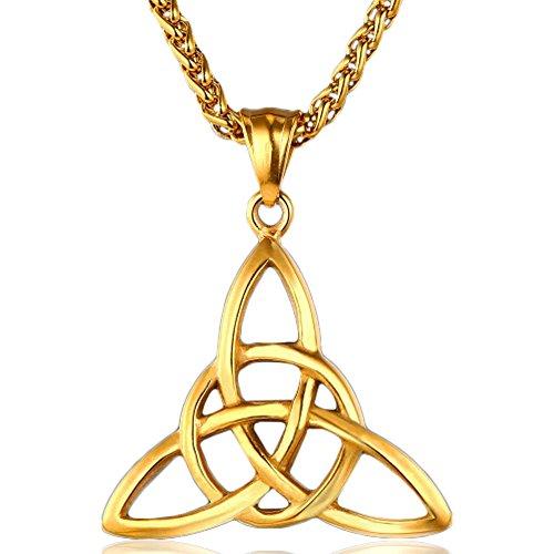 MESE London Triquetra Collana Placcata Oro 18K Catenina Trinità Ciondolo - Elegante Confezione