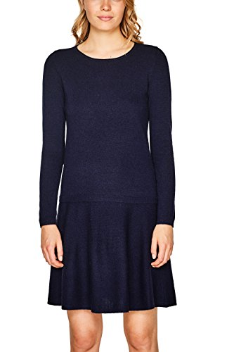ESPRIT Damen Kleid 107EE1E004 Blau (Navy 400), Large