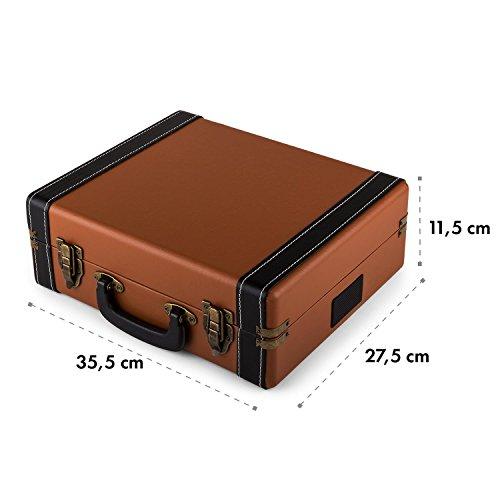 auna Jerry Lee Plattenspieler USB-Anschluss zum Digitalisieren braun - 7