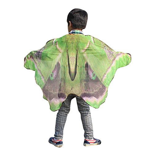 Overdose Kind Kinder Jungen Mädchen Faschingskostüme Karneval Kostüm schmetterlingsflügel Kostüm Butterfly Wing Cape Kimono Flügel Schal Cape Tuch Pashmina Kostüm Zubehör (Butterfly Kimono)