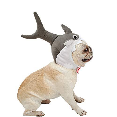 Coppthinktu Haihut für Haustiere, süßes Halloween-Kostüm, Haifisch-Kostüm, Kopfschmuck für Haustiere, Medium, (Halloween Illusion Kostüm)