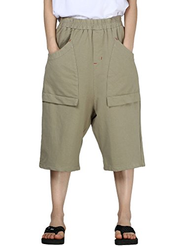 MatchLife Damen Bermuda Shorts Sommer Grün